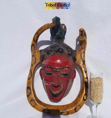POWERFUL Polychrome Guro Baule Mask Figure Sculpture Statue Fine African Art 2