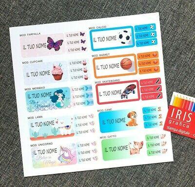 Kit 20+150 Etichette Personalizzate Scuola Con Il Tuo Nome 5