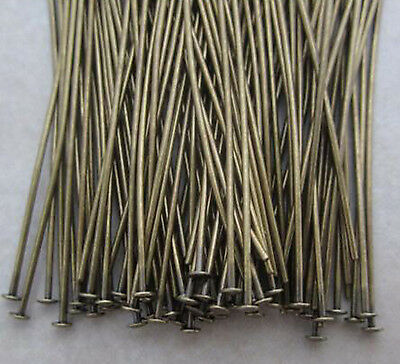 200pcs Antique Brass Pins Rings Chandelier Lamp Crystals Bead Connector Hook DIY 2