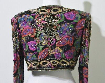 Jasdee Vintage Beaded Bolero Jacket Long Sleeve HandWork & HandPrint Style 2002 3