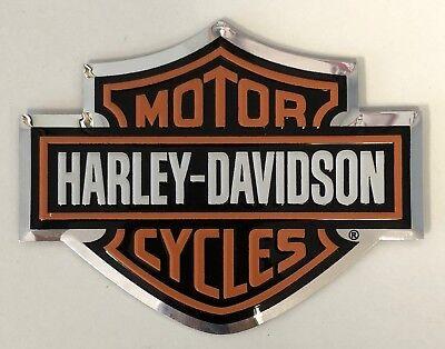 Harley-Davidson Bar & Shield Raised Aluminum Bendable Sticker Decal Emblem NEW 2