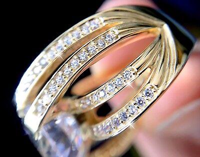 4 ct Deco Baguette Ring Russian Quality CZ Imitation Moissanite Simulant 8
