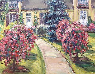 Gaston Laborde Tableau Hsp Jardin Fleuri Maison En Normandie