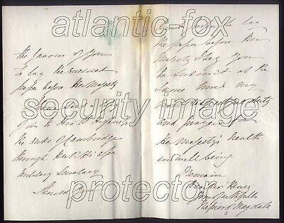 1880 LORD NAPIER of MAGDALA Letter as Governor of GIBRALTAR to QUEEN re Kandahar 2
