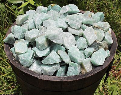 500 Carat Bulk Lot Natural Rough Green Aventurine, Raw Gemstone (100 Grams) 6