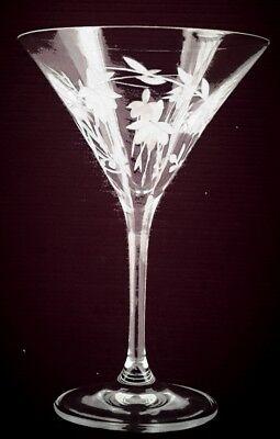 Elegant Hand Cut Crystal Cascade Design Champagne/ Cocktail Glasses 2