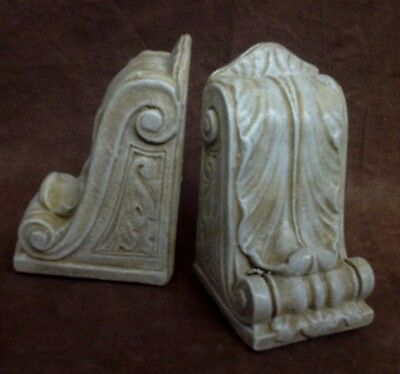 Antique Finish Shelf Acanthus Leaf Wall Corbel Sconce Bracket Pair 5