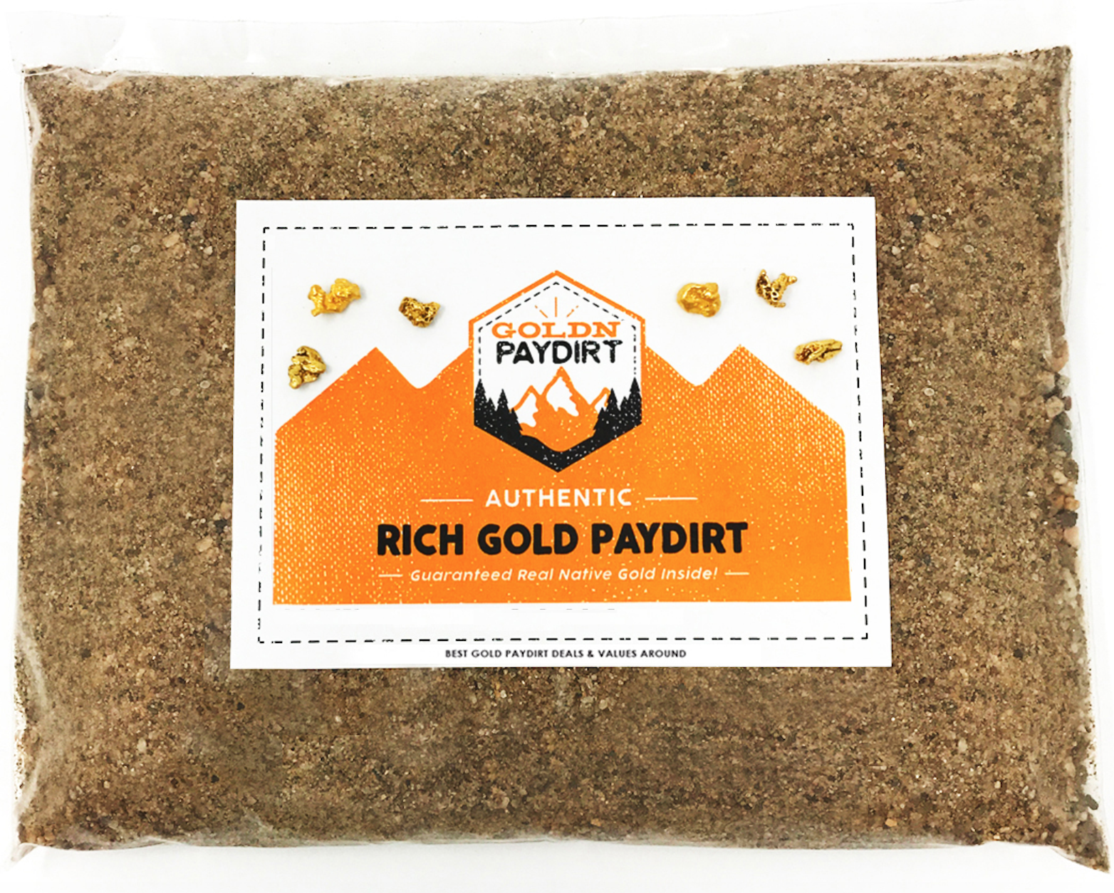 Gold Paydirt PREMIUM - 6 LBS - Unsearched Gold Panning Bag - Nuggets Pickers 4