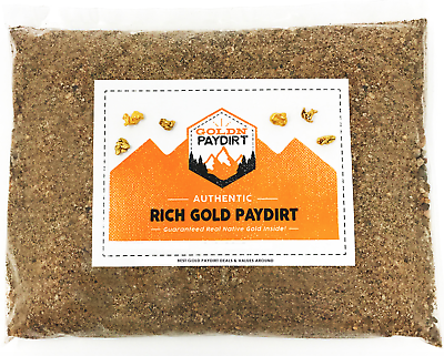 Gold Paydirt 2 LB 100% Unsearched and Guaranteed Added Gold! Panning Alaska 2