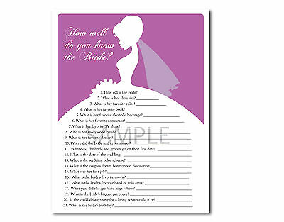 picture about Printable Party Games referred to as Preset OF 5 Pink Orchid Bridal Wedding ceremony Shower Printable Celebration Game titles