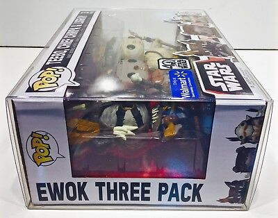 1 Box Protector For FUNKO POP! Smaller 3 packs.  Ewoks, Snap, Rush Etc.  READ!!! 5