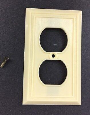 Vtg NOS Homart Outlet Cover Ivory Decorative 50s 60s Sears Framed Fine Ribbed 3