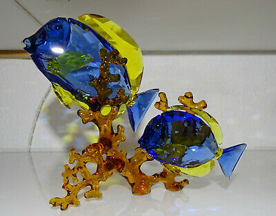 Swarovski Doctorfish Couple Tropicla Ocean Sea Blue 5223194 BRAND NEW IN BOX COA 2