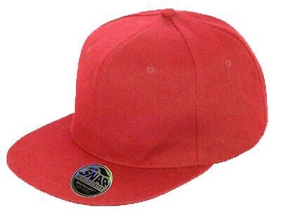 Snapback Baseball Cap Plain Classic Retro Hip Hop Adjustable Flat Peak Hat 3
