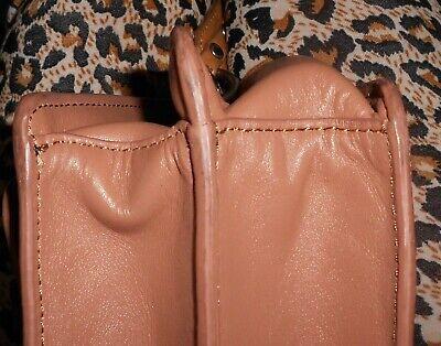 NAT & NIN Sac bandoulière cuir beige rosé & ocre TBE