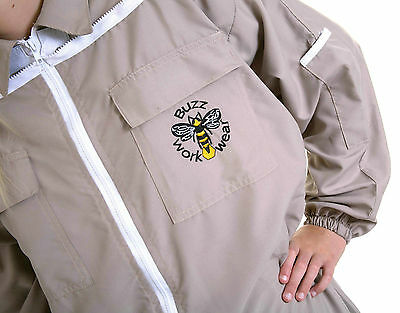 Lightweight BUZZ Beekeepers Bee suit - Colour latte, X X LARGE ( 2XL ) 7