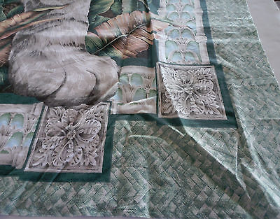 WHITE TIGER FABRIC PANEL ALABASTER tigers 4 pillow PANEL quilt top by the yard