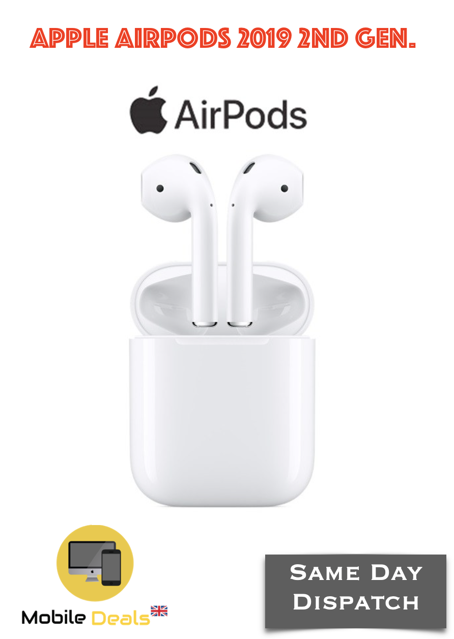 Genuine Apple AirPods 2nd generation with Charging Case White Bluetooth 2019 2