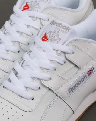 REEBOK WORKOUT PLUS Trainers in White, Gum Sole classic H