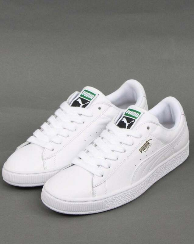 PUMA BASKET CLASSIC Trainers in White Leather - timeless retro ...