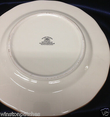 """CLAIRE WILSON/'S HEAVEN POTTERY DINNER PLATE 10.5/"""" WHITE /& BROWN DOVES /& FLOWERS"""