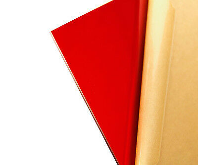 "Red Transparent Acrylic Plexiglass sheet 1//8/"" x 12/"" x 12/"" #2423"