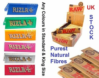 Raw Classic Rizla King Size Slim 110mm Natural Unrefined Rolling Papers Full rzP 4