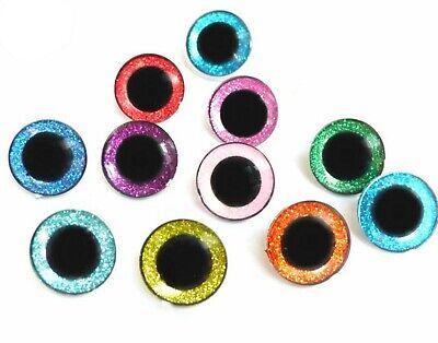 3D Sparkle Glitter Shiny Nonwovens Safety Eye 16-24 mm Amigurumi Toy Teddy Bear 2