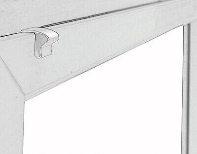 Alu Jalousie Aluminium Jalousette Klemmträger Fenster Rollo Lamelle Weiß Silber 10