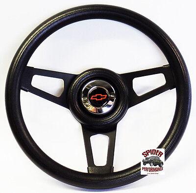 """1953-1954 Chevy Bel Air 150 210 steering wheel BOWTIE 13 3/4"""" BLACK SPOKE 2"""