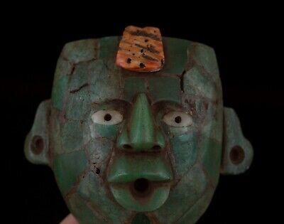 Pre Columbian Mayan Face Pendant _Aztec_Olmec_Maya 6