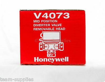 HONEYWELL 3 PORT HEATING MID POSITION MOTORISED ZONE VALVE 22mm 5 WIRE V4073A