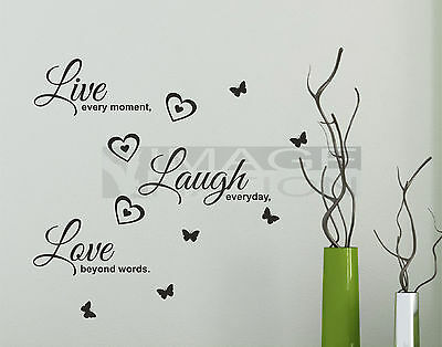 Home Decor Items Live Laugh Love Wall Stickers Living Room Decal Home Art Decor Home Furniture Diy Micromedia Ba
