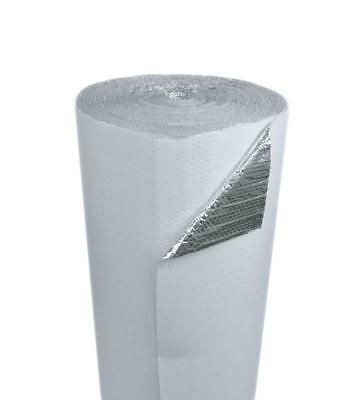 4ft x 25ft White Double Bubble Reflective Foil Insulation Thermal Barrier R8 6