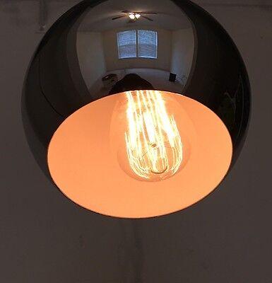 "35"" Long Chrome Pendant Light Mid Century Modern 2 Available"