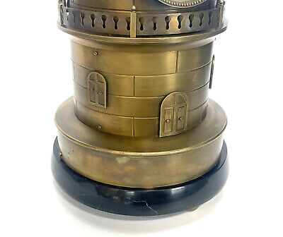 """32"""" Tall Large French Style 8 Day Brass Automaton Windmill Industrial Clock 9"""