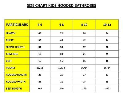 Personalised Kids Childrens Bathrobe Terry Towelling Hooded Bath Robe Gown 4 -14 2