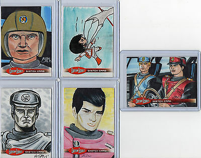 Autograph Sketch And Printing Plate Selection Unstoppable Captain Scarlet