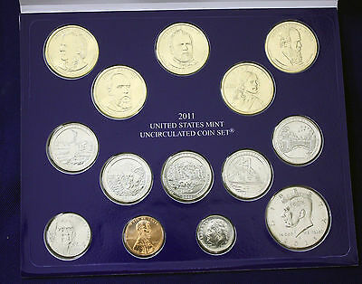 """2011 U.S. Mint Set. Complete and Original. 28 coins 14 each from """"P"""" and """"D"""" 2"""