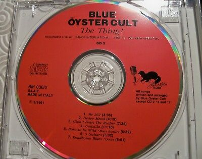 """Blue Oyster Cult """"The Thing !"""" Double Cd Fat Jewel Case Live In Nyc 1981 Bm036/2 5"""