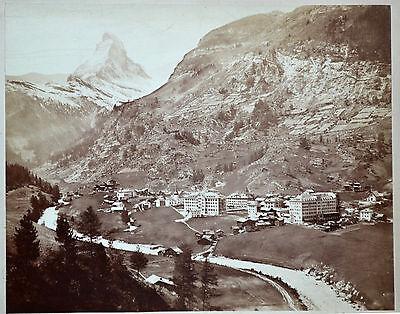Fotografie,Zermatt und Matterhorn,Schweiz,Giorgio Sommer, etwa1900