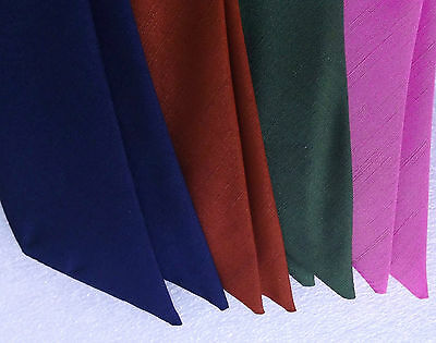 Vintage 1960s ready-knot cravat scarf UNUSED childrens TRICEL Choose a colour