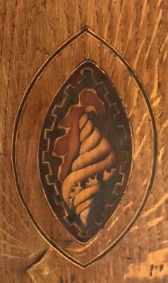 * Antique Somerset 8 DAY Inlaid Oak Grandfather Longcase Clock SULLEY of STOWEY 7