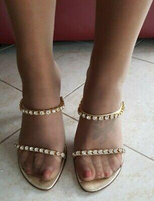 Camoscio FOX.ME 6967 Scarpe Donna sandali con tacco Decolletè aperte in punta