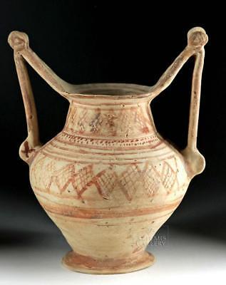 Greek Messapian Bichrome Pottery Trozella Lot 13B