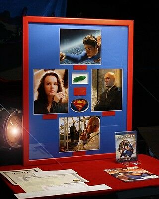 SUPERMAN Signed AUTOGRAPHS Routh, Spacey, Bosworth, Langella + KRYPTONITE Prop 3