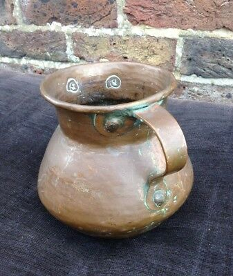 Vintage. Copper. Quality Traditional Shaped Pot Planter Vase Vessel