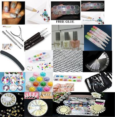 2000 Choose Colour Crystal Flat Back Nail Art Face Festival Rhinestones Gems 12