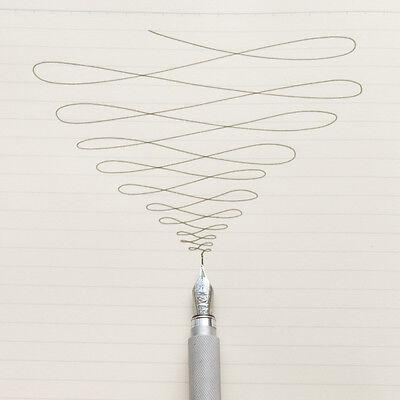 MOMA MUJI Aluminum round Fountain Pen made in Japan fine nib free shipping 5