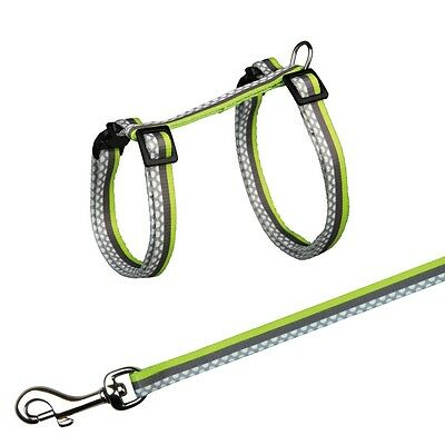 Trixie Patterened Nylon Cat Harness + Lead Assorted Colours 41862 3